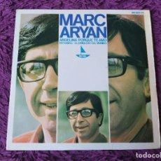 """Discos de vinilo: MARC ARYAN – ANGELINA ,VINYL 7"""", EP 1966 SPAIN HX 007-71. Lote 280718498"""