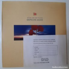 Discos de vinilo: DEPECHE MODE- MUSIC FOR THE MASSES- SPAIN LP 1987 + 2 ENCARTES- VINILO COMO NUEVO.. Lote 280779633