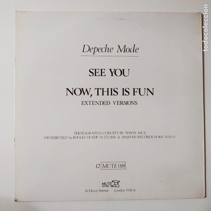 Discos de vinilo: DEPECHE MODE- SEE YOU (EXTENDED VERSION) - UK MAXI SINGLE 1982 - VINILO COMO NUEVO. - Foto 2 - 280782993
