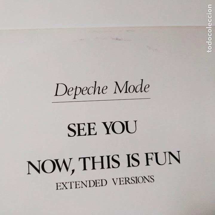 Discos de vinilo: DEPECHE MODE- SEE YOU (EXTENDED VERSION) - UK MAXI SINGLE 1982 - VINILO COMO NUEVO. - Foto 3 - 280782993