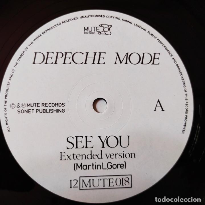 Discos de vinilo: DEPECHE MODE- SEE YOU (EXTENDED VERSION) - UK MAXI SINGLE 1982 - VINILO COMO NUEVO. - Foto 4 - 280782993