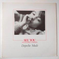Discos de vinilo: DEPECHE MODE- SEE YOU (EXTENDED VERSION) - UK MAXI SINGLE 1982 - VINILO COMO NUEVO.. Lote 280782993