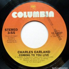 Discos de vinil: CHARLES EARLAND: COMING TO YOU LIVE + 1 - SINGLE PROMO - 1980 - COLUMBIA (USA) - CASI NUEVO (NM). Lote 280785043