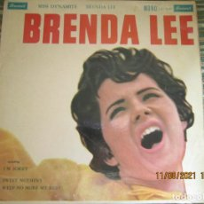 Discos de vinilo: BRENDA LEE - MISS DYNAMITE LP - ORIGINAL INGLES - BRUNSWICK RECORDS 1966 - MONOAURAL -. Lote 280812308