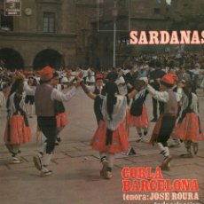 Discos de vinilo: SARDANAS - COBLA BARCELONA - TENORA: JOSE ROURA / LP COLUMBIA DE 1974 / PERFECTO ESTADO RF-9982. Lote 280828803