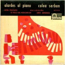 Discos de vinilo: COLEA SERBAN - ALARDES AL PIANO - EP SPAIN 1960 - FONTANA 463172TE. Lote 280860088