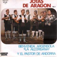 """Discos de vinilo: JOTAS DE ARAGON VOL. 1 - """"LA ALCORISANA"""" Y EL PASTOR DE ANDORRA / LP OLYMPO DE 1981 RF-9995. Lote 280863793"""