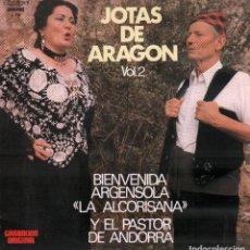 """Discos de vinilo: JOTAS DE ARAGON VOL. 2 - """"LA ALCORISANA"""" Y EL PASTOR DE ANDORRA / LP OLYMPO DE 1981 RF-9996. Lote 280863898"""