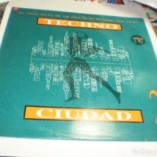 Disques de vinyle: LP TECHNO. CIUDAD 2. DRO 1993 SPAIN (PROBADO, BIEN, SEMINUEVO). Lote 280889708