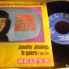 Discos de vinilo: LOUIS NEEFS . JENNIFER, JENNINGS.EUROVISION BÉLGICA 1969. Lote 280907023