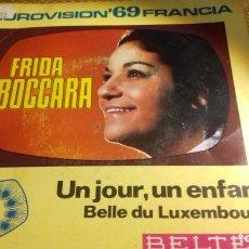Discos de vinilo: FRIDDA BOCCARA EUROVISION FRANCA 1969. Lote 280907303