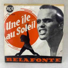 Discos de vinilo: EP BELAFONTE - UNE ÎLE AU SOLEIL - FRANCIA - AÑO 1957. Lote 280929298