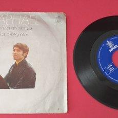 Discos de vinilo: SINGLE VINILO RAPHAEL-ALELUYA DEL SILENCIO/LOS PELEGRINITOS. Lote 280942378