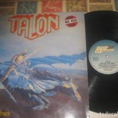 Discos de vinilo: TALON NEVER LOOK BACK 1985 STEAM HAMMER OG GERMANY RARO. Lote 280959288