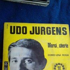 Discos de vinilo: UDO JURGENS .MERCI CHERIE .EUROVISIÓN 1966. Lote 280978073