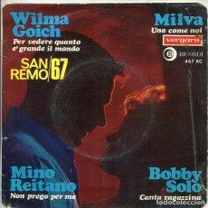Discos de vinilo: FESTIVAL SAN REMO 67 (VARIOS) EP VERGARA 1967). Lote 280988438
