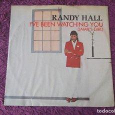Discos de vinilo: RANDY HALL – I'VE BEEN WATCHING YOU ,VINYL MAXI-SINGLE 1984 UK MCAT 912. Lote 280995723