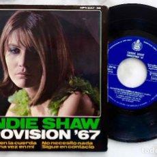 Discos de vinilo: SHANDIE SHAW. EUROVISION 1967. MARIONETAS EN LA CUERDA + 3. EP ORIGINAL ESPAÑA 1967. Lote 281047473