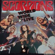 Discos de vinilo: SCORPIONS WORLD WIDE LIVE 2 LP ESPAÑA 1985. Lote 281773633