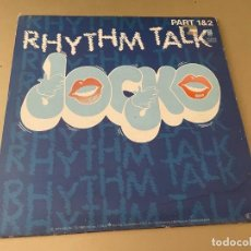Discos de vinilo: MAXI SINGLE 33 RPM DISCO VINILO JOCKO RHYTHM TALK PART 1 & 2 EDICION HOLANDA. Lote 281847178