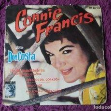 "Discos de vinilo: CONNIE FRANCIS CON DON COSTA – LINDA MUCHACHITA,VINYL 7"" EP 1962 SPAIN HT 057-56. Lote 281868403"