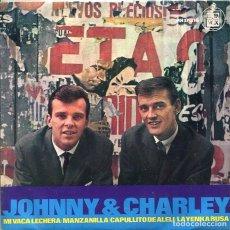 Disques de vinyle: JOHNNY AND CHARLEY / CAPULLITO DE ALELI + 3 (HISPAVOX 1965). Lote 281959688