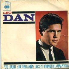 Dischi in vinile: LEO DAN / ¿QUE TIENE LA NIÑA? + 3 (EP CBS 1964). Lote 281961843