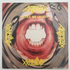 Discos de vinilo: ANTHRAX – MAKE ME LAUGH, UK 1988 MEGAFORCE WORLDWIDE. Lote 281993298