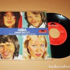Discos de vinilo: ABBA - SUMMER NIGHT CITY - SINGLE - 1978. Lote 281993608