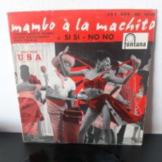 Discos de vinilo: MAMBO A LA MACHITO. FONTANA. SPAIN.. Lote 282002568