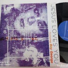 Disques de vinyle: JESUS LOVES YOU FEAT. BOY GEORGE - GENERATIONS OF LOVE - MAXI SINGLE LE CLUB ESPAÑA 1998 // HOUSE. Lote 282064138