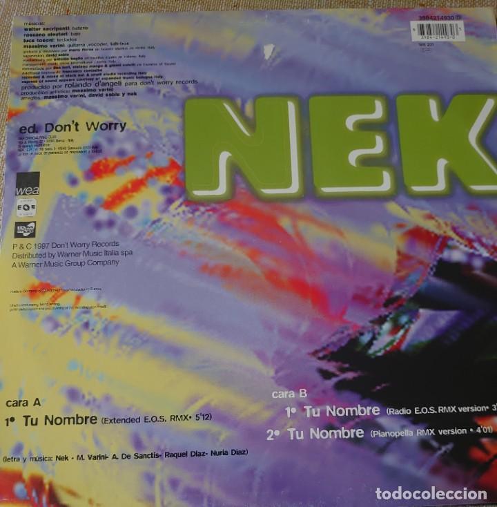 Discos de vinilo: Nek Maxi-single editado en España año 1997 por el sello WEA... - Foto 2 - 282199768