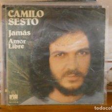 Discos de vinilo: LP CAMILO SESTO JAMAS ESCRITOS EN TAPA SINGLE DEL AÑO 1975. Lote 282238308