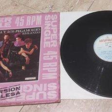 Discos de vinilo: ALASKA Y LOS PEGAMOIDES MAXI HISPAVOX 1982 - BAILANDO - VERSION INGLESA Y ESPAÑOLA - FANGORIA. Lote 282241043