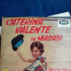 Discos de vinilo: CATERINA VALENTE DISO DE 4 CANCIONES. Lote 282457388