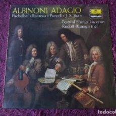 Discos de vinil: PACHELBEL, RAMEAU, PURCELL, J.S. BACH – ALBINONI: ADAGIO ,VINYL LP SPAIN 1976 ,25 38 011. Lote 282546293