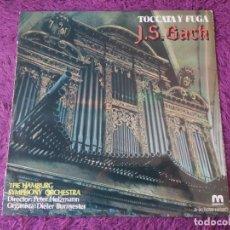 Discos de vinil: J.S. BACH – TOCCATA Y FUGA, VINYL LP 1981 SPAIN D-20/0056. Lote 282549948