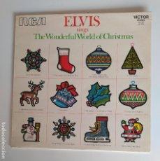 Disques de vinyle: ELVIS PRESLEY - SINGS THE WONDERFUL WORLD OF CHRISTMAS. LP. TDKLP. Lote 282564843