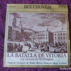 Discos de vinilo: BEETHOVEN - LA BATALLA DE VITORIA, VINYL SINGLE 1963 SPAIN HC 44-14. Lote 282565838