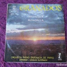 Discos de vinilo: ORQUESTA RADIO SINFONICA DE PARIS – GRANADOS ,VINYL SINGLE 1960 SPAIN EPFM-178. Lote 282568728