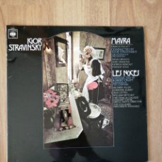 Disques de vinyle: VINILO STRAVINSKY, CBS. Lote 282577578
