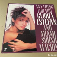 Discos de vinilo: MAXI SINGLE GLORIA ESTEFAN AND MIAMI SOUND MACHINE ANYTHING FOR YOU THE MEGAMIX. Lote 282586783
