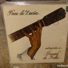 Discos de vinilo: LP PACO DE LUCIA INTERPRETA A MANUEL DE FALLA 1978 GATEFOLD BUEN ESTADO. Lote 282970898