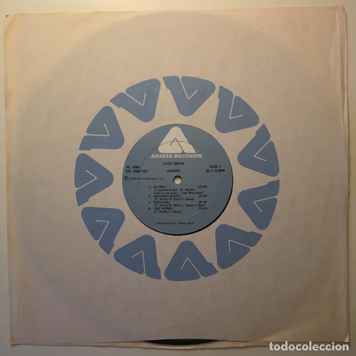 Discos de vinilo: Patti Smith – Horses, Peter Pan Press, US 1975 Arista - Foto 3 - 282982228
