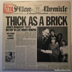 Discos de vinilo: JETHRO TULL – THICK AS A BRICK, NEWSPAPER, SCANDINAVIA 1972 CHRYSALIS. Lote 282990098