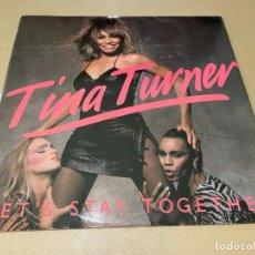 Discos de vinilo: MAXI SINGLE DISCO VINILO TINA TURNER LET'S STAY TOGETHER EDICION UK REINO UNIDO (UNITED KINGDOM). Lote 283000448