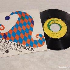 Discos de vinilo: LOS RELÁMPAGOS / EL BAILE DEL BUFÓN-EL ARLEQUÍN DE TOLEDO / SINGLE - ZAFIRO-1967 / MBC. ***/***. Lote 283001083