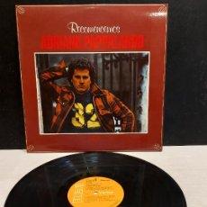 Discos de vinilo: ADRIANO PAPPALARDO / RECOMENCEMOS / LP - RCA-VICTOR-1979 / MBC. ***/***. Lote 283001448
