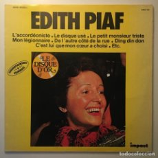 Discos de vinilo: EDITH PIAF – EDITH PIAF, FRANCE IMPACT. Lote 283013668