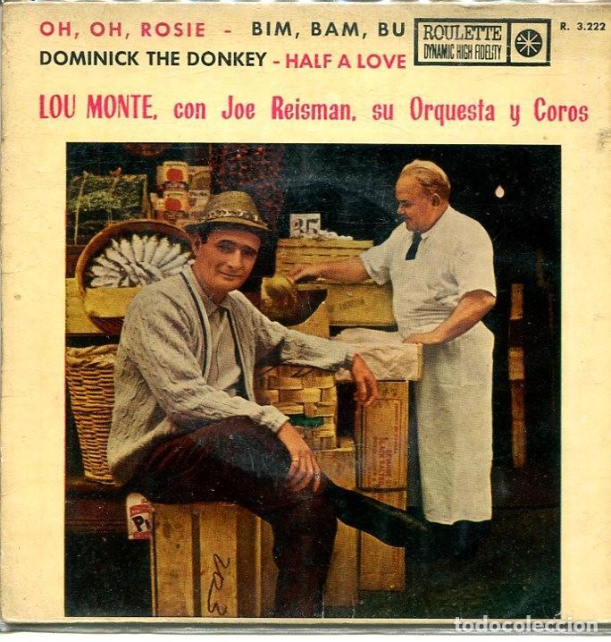LOU MONTE CON JOE REISMAN / OH,OH ROSIE + 3 (EP ROULETTE 1961) (Música - Discos de Vinilo - EPs - Pop - Rock Internacional de los 50 y 60)